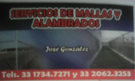Logotipo de empresa Alambrados González