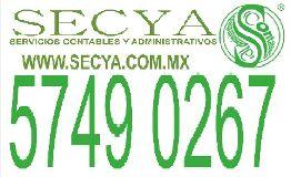 Contadores publicos, Servcios Contables y Administrativos,Despacho contable, SECYA. Gustavo A. Madero