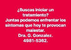 Foto de DRA. G. GONZALEZ. PSICOANALISTA DF, CDMX. MÉXICO. 20 AÑOS DE EXPERIENCIA.