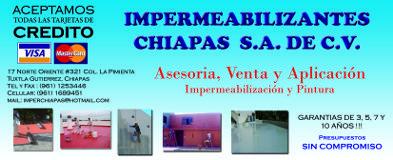 Impermeabilizantes Chiapas S.A. De C.V. Tuxtla Gutiérrez