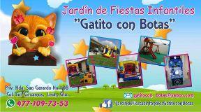 Jardin de Fiestas Infantiles Gatito con Botas León