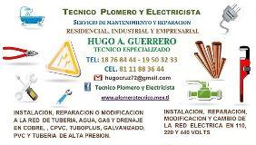 TECNICO PLOMERO Y ELECTRICISTA Gral. Escobedo